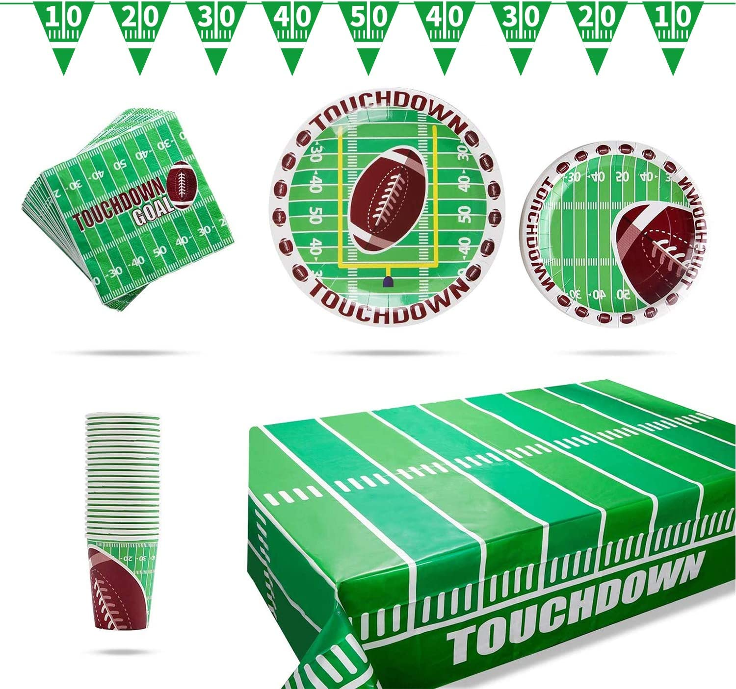 Gatherfun Football Theme Party Supplies Pack Pl Dinner Dessert Max 64% OFF Industry No. 1