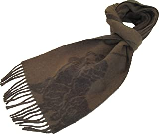 Polo Ralph Lauren Mens Wool Blend Italy Big Pony Scarf Brown