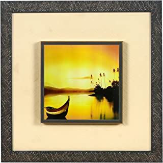Wens 'Love in Rain Embossed' Wall Art Painting (Synthetic Wood, 33 cm x 33 cm x 4 cm) (WSP-12057)