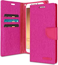 Galaxy C9 Pro Wallet Case with Free 4 Gifts [Shockproof] GOOSPERY Canvas Diary [Ver. Magnetic] Card Holder with Kickstand Flip Cover for Samsung GalaxyC9Pro - Pink, C9PRO-CAN/GF-PNK