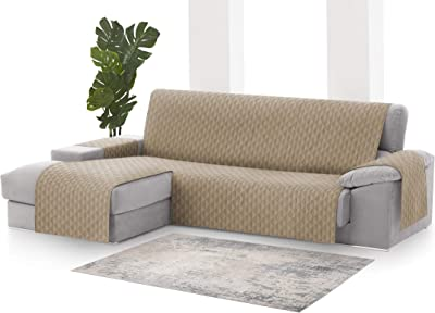 textil-home Funda Cubre Sofá Chaise Longue Adele, Protector ...