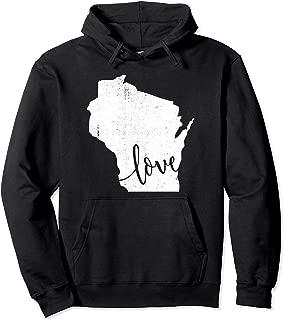 Wisconsin Hoodie Sweatshirt. Home State Pride Vintage Gift