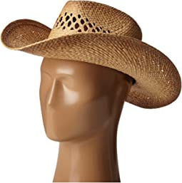 Raffia Western with Leather Trim