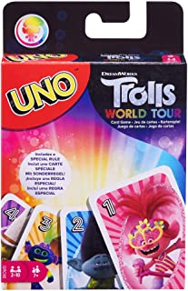 Mattel Games UNO: DreamWorks Trolls World Tour - Card Game, Multi (GRC65)
