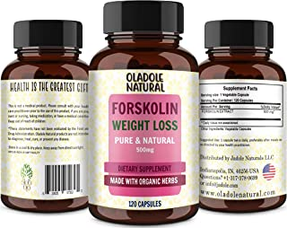 Forskolin Extract for Weight Loss. Pure Forskolin Diet Pills & Belly Buster Supplement. Premium Appetite Suppressant, Meta...