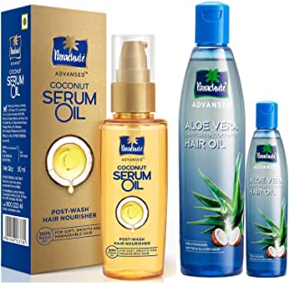 Parachute Advansed Coconut Hair Serum Oil, 50 ml and Parachute Advansed Aloe Vera Enriched Coconut Hair Oil, 250ml (Free 75ml)
