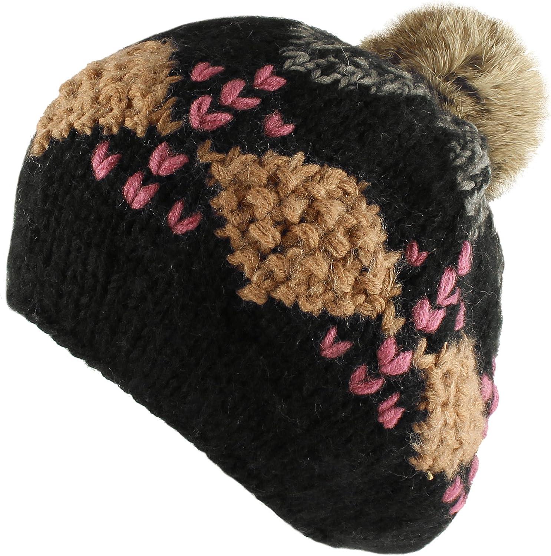 Burgundy /& Off White Brick Stitch Crochet Bobble Winter Hat Snowboard Ski Surf Skate Mid Slouchy Pompom Beanie Navy Blue