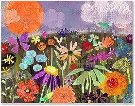 BR &Nameinternal - Field of Flowers 18x14 canvas Wall Art, by Amy Schimler-Safford