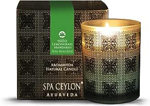 Spa Ceylon Luxury Ayurveda Lemongrass Mandarin Aroma Blend Natural Candle - (3 Inch x 3.5 Inch x 3.2 Inch )