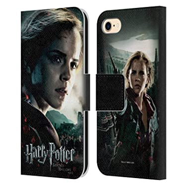 Head Case Designs Officially Licensed Harry Potter Hermione Granger Deathly Hallows VIII Leather Book Wallet Case Cover Compatible with Apple iPhone 7 / iPhone 8 / iPhone SE 2020