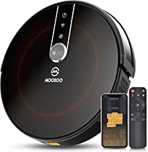 MOOSOO Robot Vacuum - Wi-Fi Connected, 2200Pa Suction, Gyroscope Navigation 2.0, Works with Alexa & Google Assistant, Quie...