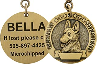 Taglory Bronze Dog ID Tags