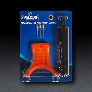 Spalding Football Kit with 6-Inch Single Action Pump/Tee and 3 Needles