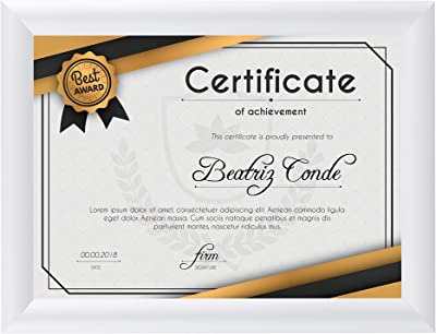 1 Profile Wall Mounting Black Easy Installation BNV Aluminum Front Load Snap Poster//Picture Certificate Frame PVC Cover 8.5x11 Inches Portrait and Landscape Mode Lightweight Anti-Glare