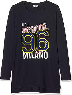 Mek T-Shirt Costina con Lurex Maglietta a Maniche Lunghe Bambina