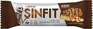 SINFIT Double Layer High Protein Crunch Bar by Sinister Labs - 30 g protein! Gluten-free - (2.93 oz bars) (Peanut Butter Crunch, 12-Pack)