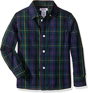 Izod Boys' Long Sleeve Plaid Button-Down Dress Shirt