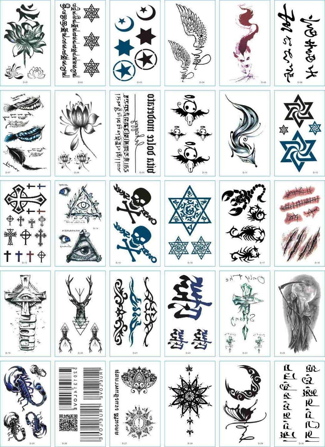 30PCS Max 48% OFF Tattoo Sticker OFFicial site Temporary Water Stick