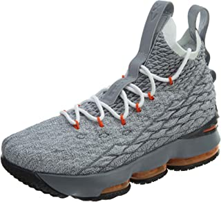 Youth Lebron 15 Boys Basketball Shoes Black/Safety Orange/Wolf Grey 922811-080 Size 7