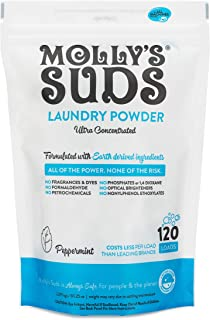 Molly's Suds Original Laundry Detergent Powder 120 load, Natural Laundry Soap for..