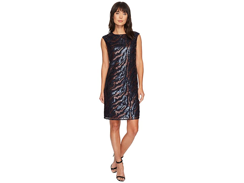 NIC+ZOE Lace Sequin Shift Dress (Multi) Women