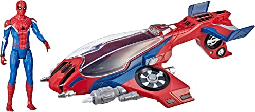 Spider-Man, Far From Home Spider-Jet with – Vehicle Toy & 6
