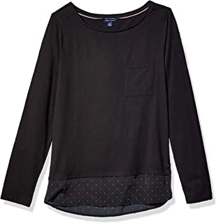 Women's Adaptive Layered Top with Velcro Brand Closure at Shoulder
