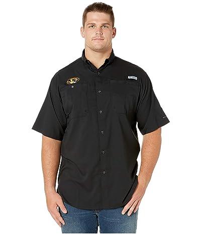 Columbia College Big Tall Missouri Tigers Collegiate Tamiamitm II Short Sleeve Shirt (Black) Men