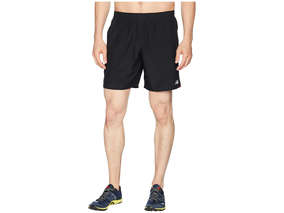 New Balance Accelerate 7 Shorts (Flame/Black) Men