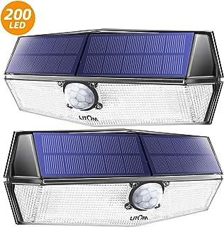 LITOM 200 Leds Luz Solar de Exterior, Impermeable IP67,