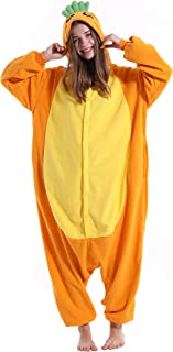 vavalad Adult Carrot Onesie Pajamas Cosplay Animal Homewear Sleepwear Jumpsuit Costume Women Men