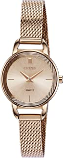 Citizen Women's Japanese-Quartz Stainless-Steel Strap, Rose Gold, 10 Casual Watch (Model: EZ7003-51X)