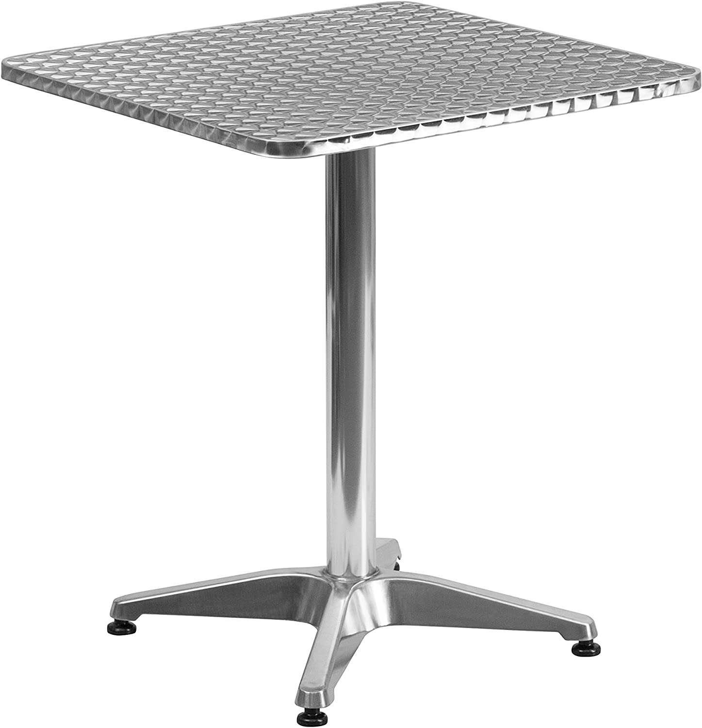 Flash Furniture TLH-053-1-GG Square Aluminum Indoor Outdoor Table with Base, 23.5-Feet