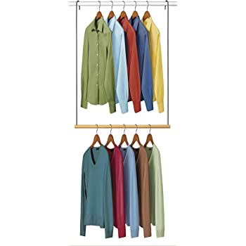 ALYER 3-Pack Hanging Closet Rod,Expandable Hanging Rod for Small Bathroom or Small Closet