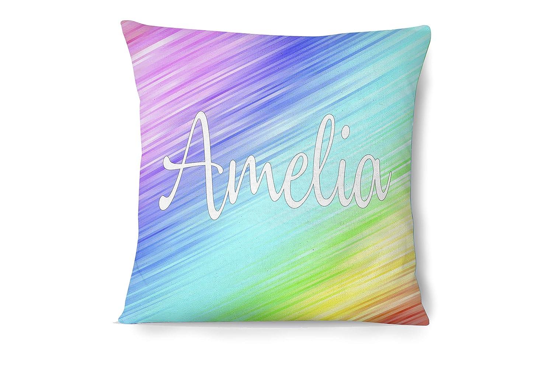 Girl's Pastel Price reduction Rainbow Throw Pillow Custom Indefinitely