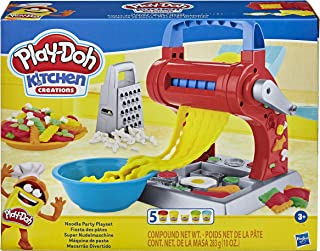 Play-Doh Kitchen Creations Noodle Party Playset for Kids 3 Years and Up with 5 Non-Toxic Colors