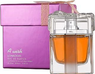 LONKOOM HALAL Perfume Eau De Toilette A WISH PINK Floral-Fruity Eau De Parfum Spray For Women 100ml