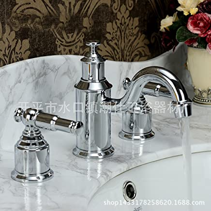 LHbox Basin Mixer Tap Bathroom Sink Faucet High-end antique faucet solid brass chrome plated color basin mixer
