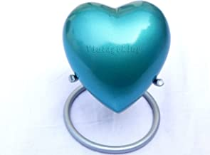 Vintage King Handmade Mini Heart Keepsake Urn with Stand- Small Urn for Human Ashes - Honor Your Loved One with Cremation ...