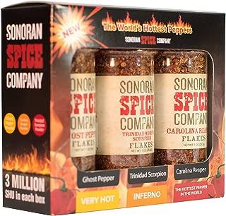 Sonoran Spice Carolina Reaper, Trinidad Scorpion, Ghost Pepper Flake Super Hot Box