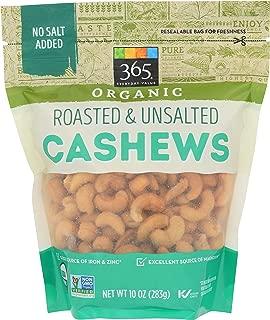 365 Everyday Value, Organic Cashews, Roasted & Unsalted, 10 oz