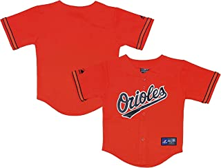 Outerstuff Baltimore Orioles Word Mark Blank Orange Infants Toddler Authentic Alternate Jersey