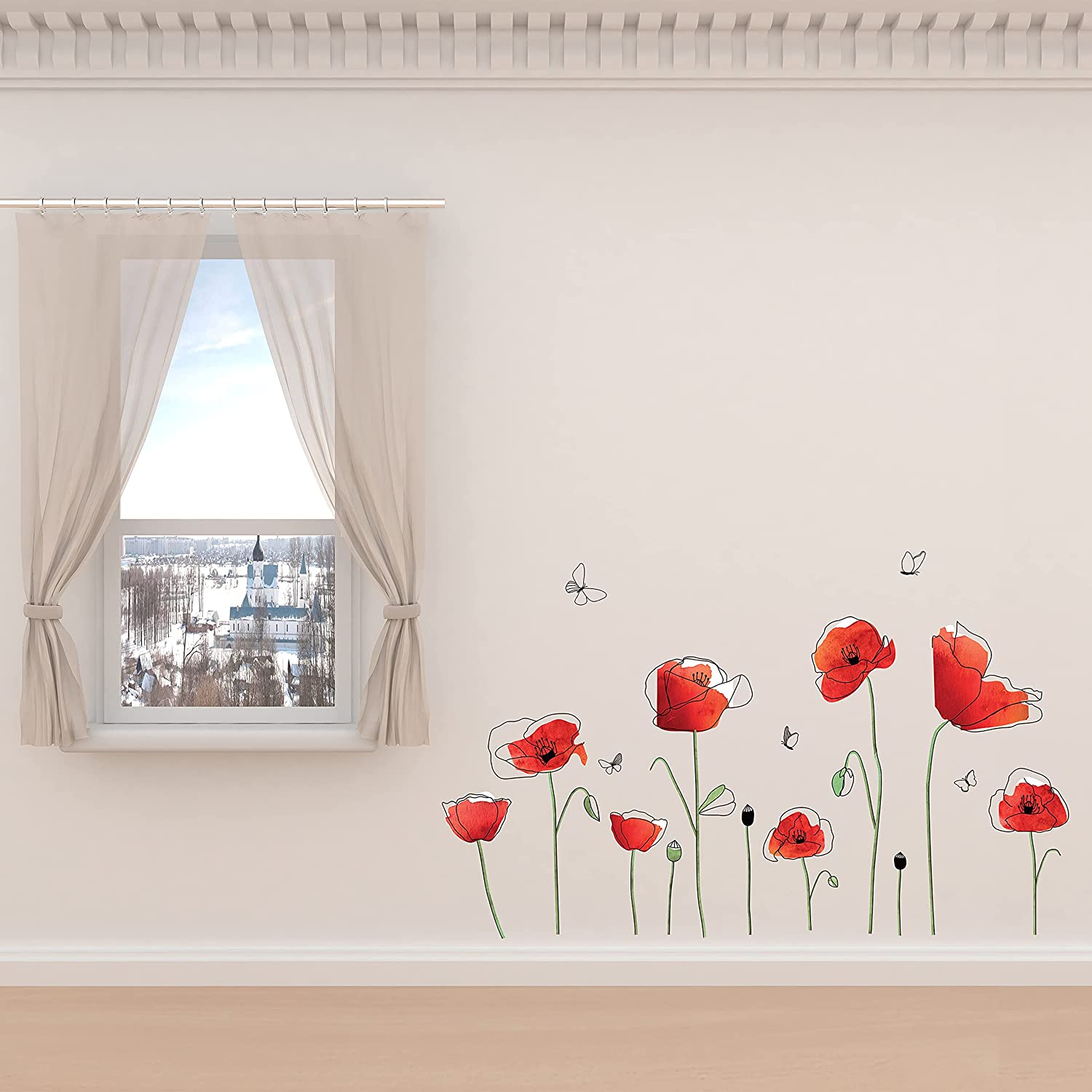 WALPLUS Spring Decoration Flower Vines Stick Ranking TOP2 Wall Peel and Super beauty product restock quality top