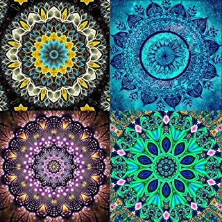 WEIYUAN 4 Pack DIY 5D Diamond Painting Datura flowers for Adult Kids, Diamond Painting Rhinestone Embroidery Pictures Cros...