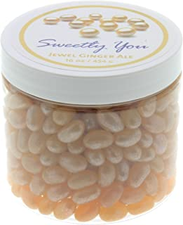 Jelly Belly 1 LB (One Pound, 1 Pound) Bulk Jelly Beans in a resealable and reusable jar. Jewel Ginger Ale Flavored Beans.