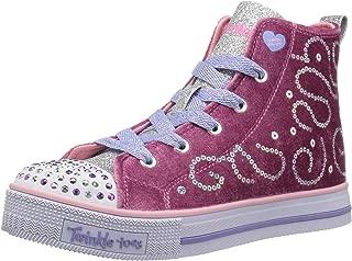 Skechers Kids' Twinkle Lite-Velvety Glam Sneaker