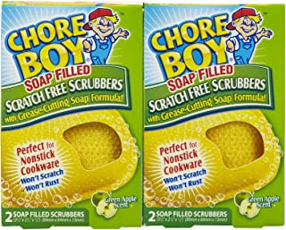Chore Boy Soap Filled Scratch Free Scrubbers: 2 Pack