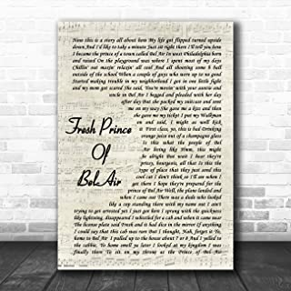 Fresh Prince of Bel-Air Vintage Script Song Lyric Quote Music Poster Gift Present Art Print