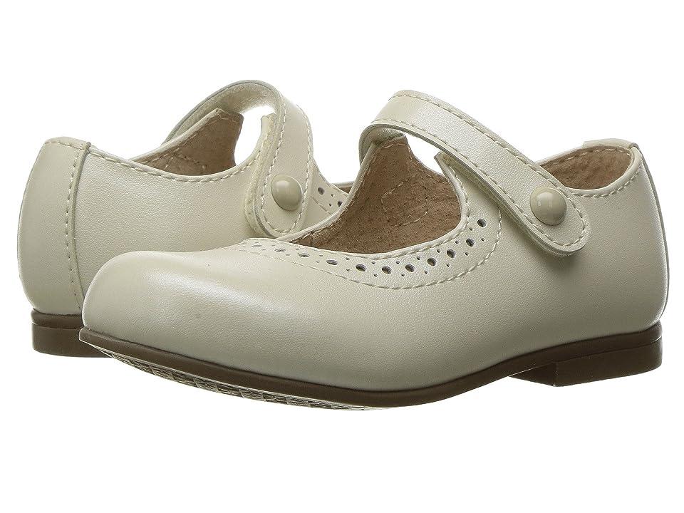 FootMates Emma (Toddler/Little Kid) (Bone Pearlized) Girls Shoes