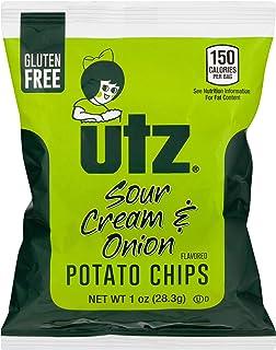 Utz Potato Chips, Sour Cream & Onion – 1 oz. Bags (60 Count) – Crispy Potato Chips Made from Fresh Potatoes, Crunchy Indiv...